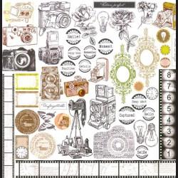 Papír na scrapbook 30,5 x 30,5 cm - Vintage Frame