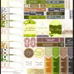 Papír na scrapbook 30,5 x 30,5 cm - Cedulky vintage