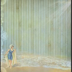 Papír na scrapbook 30,5 x 30,5 cm - Žena na pláži