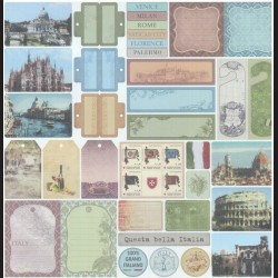 Papír na scrapbook 30,5 x 30,5 cm - Itálie