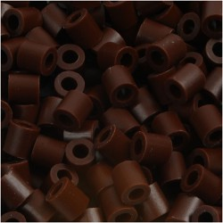 Korálky zažehlovací - tmavě hnědé, 5 x 5 mm, 850ks