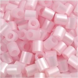 Korálky zažehlovací - perleťově růžové, 5 x 5 mm, 850ks