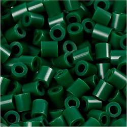 Korálky zažehlovací - tmavě zelené, 5 x 5 mm, 6000ks