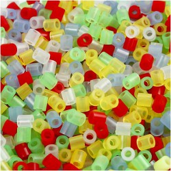 Koráky zažehlovací transparentní mix 5 x 5 mm