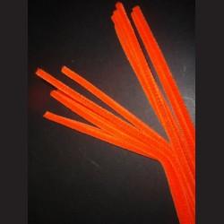 Plyšový drátek oranžový