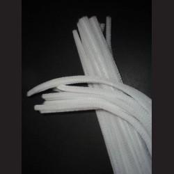 Plyšový drátek bílý