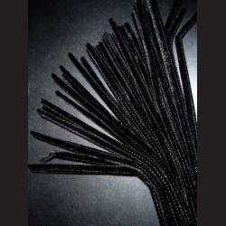 Plyšový drátek černý