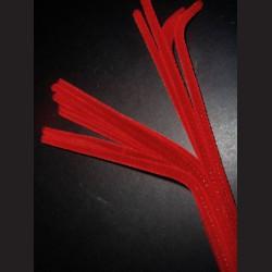 Plyšový drátek červený