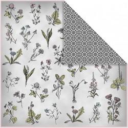 Papír na scrapbook 30,5 x 30,5 cm - Květiny