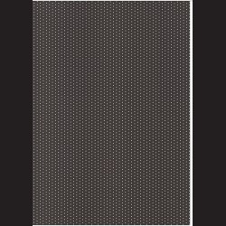 Fotokarton A4 Puntíkovaný černý