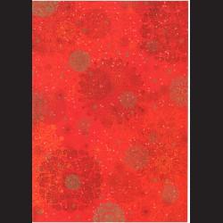 Fotokarton A4 Vánoční ornament červený