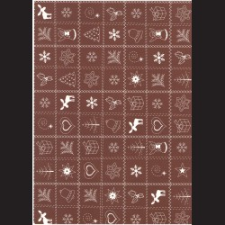 Fotokarton A4 Vánoční vzor hnědý