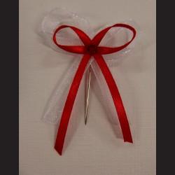 Svatební mašlička bílo-červená