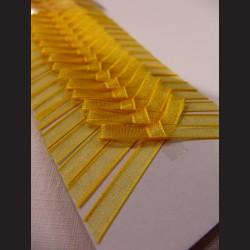 Svatební mašličky - žluté monofilové, 20 ks