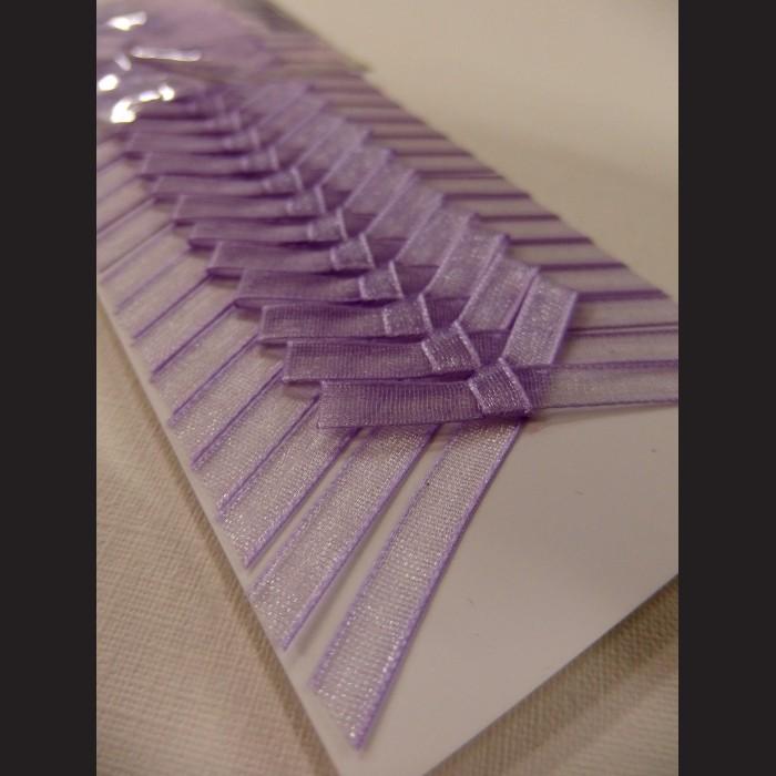 Svatební mašličky fialové monofilové, sada