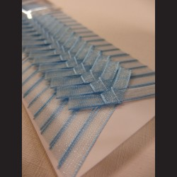 Svatební mašličky - modré monofilové, 20 ks