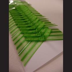 Svatební mašličky - zelené monofilové, 20 ks