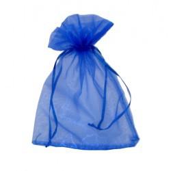 Organzový pytlík modrý č.5
