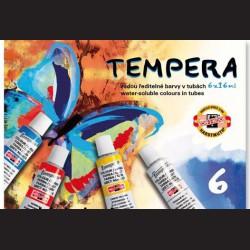 Temperové barvy Koh-i-noor, sada 6 barev