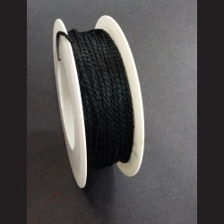 Kroucený provázek černý 2mm