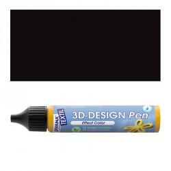 3D nafukovací barva - černá