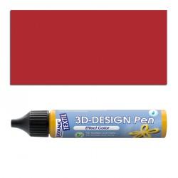 3D nafukovací barva - brilatní červená
