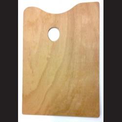 Dřevěná malířská paleta - obdélná střední