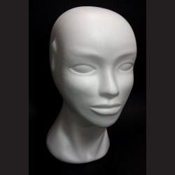 Polystyrenová hlava dámská