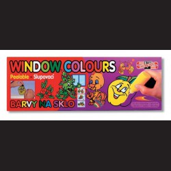 Velká sada slupovacích barev na sklo Window Colours