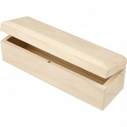 Dřevěná krabička s panty, 20x6x6 cm