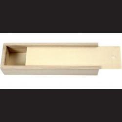 Dřevěná krabička se zasouvacím víkem, 20x6x3,5 cm