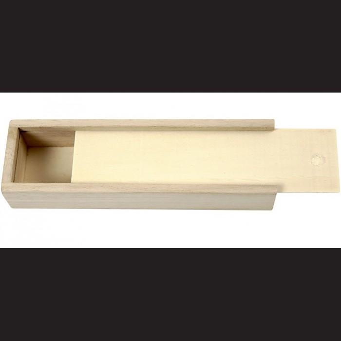 027f7c9131e Dřevěná krabička se zasouvacím víkem