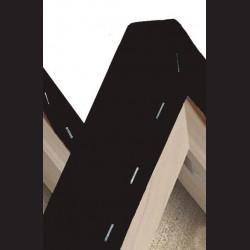 Černé malířské plátno na rámu 30 x 30 cm