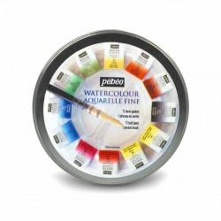 Sada akvarelových barev v plechové krabičce, 12 barev