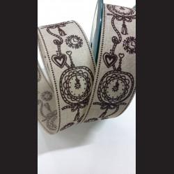 Textilní stuha Hodiny