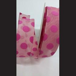 Stuha růžová puntíkovaná