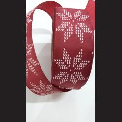 Vínová vánoční stuha Hvězda