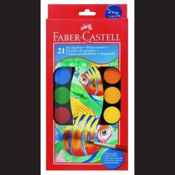 Vodové barvy Faber-Castell - 30 mm, 21 barev