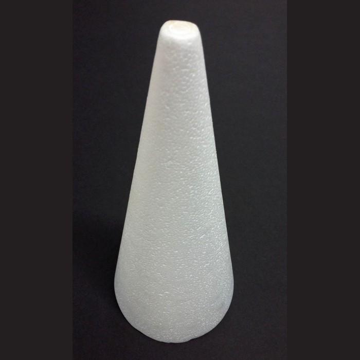 Kužel polystyrenový, výška 27 cm