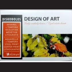 Blok Diskobolos A2 - akvarel, tempera, ocelotisk