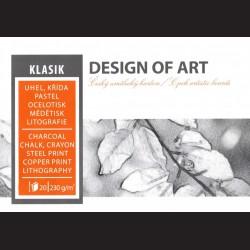 Blok Klasik A2 - uhel, křída, pastel