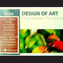 Blok Tillia A2 - křída, uhel, pastel, ocelotisk