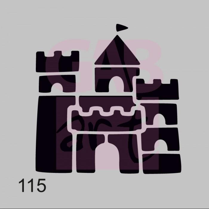 Plastová šablona - hrad, 115