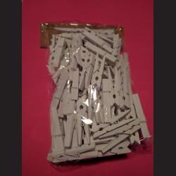 Bílé kolíčky - balení 100ks