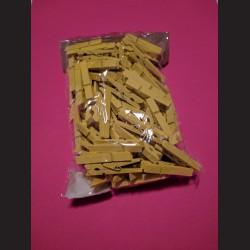 Dřevěné žluté kolíčky - 5 cm, 100ks