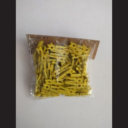 Žluté kolíčky - balení 100ks