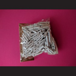 Dřevěné bílé kolíčky - malé, 100 ks