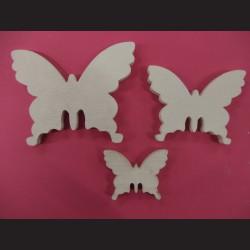 Motýli bílí - dřevěné výřezy, 20 ks