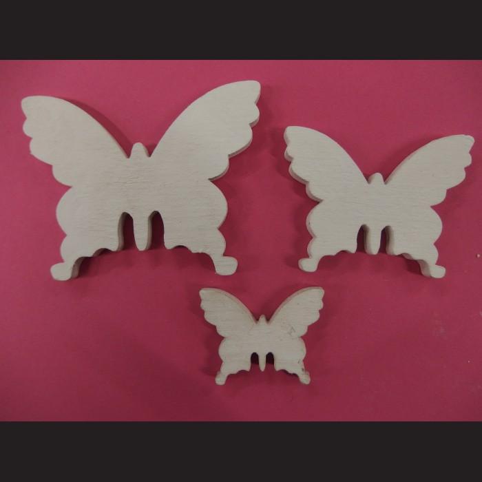 Motýli bílí- dřevěné výřezy, 20 ks