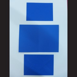 Obálka s přáním - tmavě modrá, C6